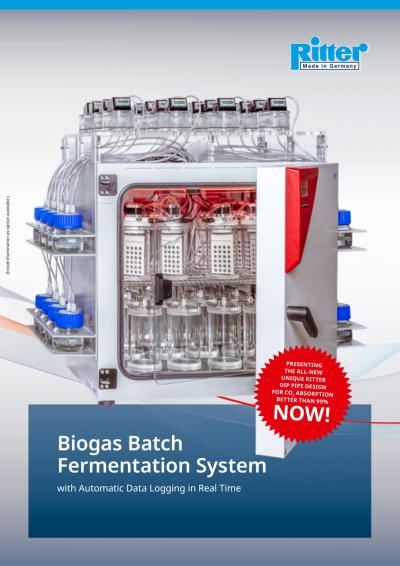 Ritter biogás-batch-fermentación-sistema