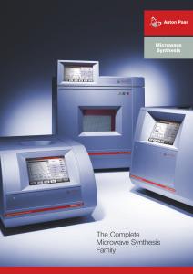 Catálogo de la síntesis de microondas