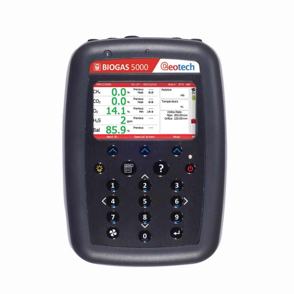 Analisador de Biogás Portátil Modelo BIOGAS 5000 Marca Geotech