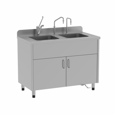 Momoline washing unit bench with double sink