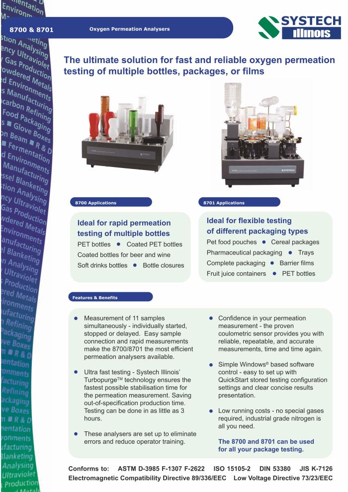 Systech Oxygen Permeability Analyzer 8700-8701 • ERT Lda